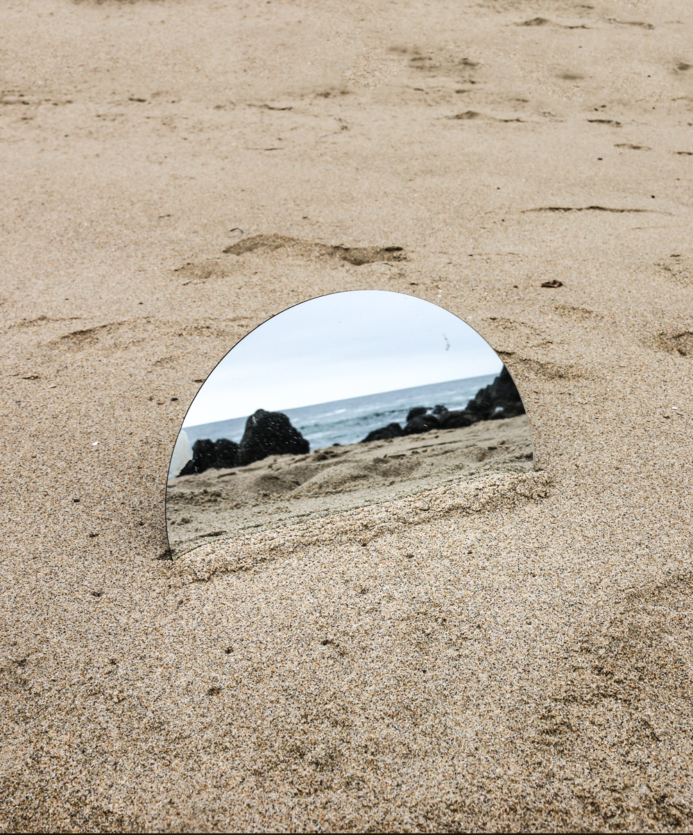 mirror on the beach