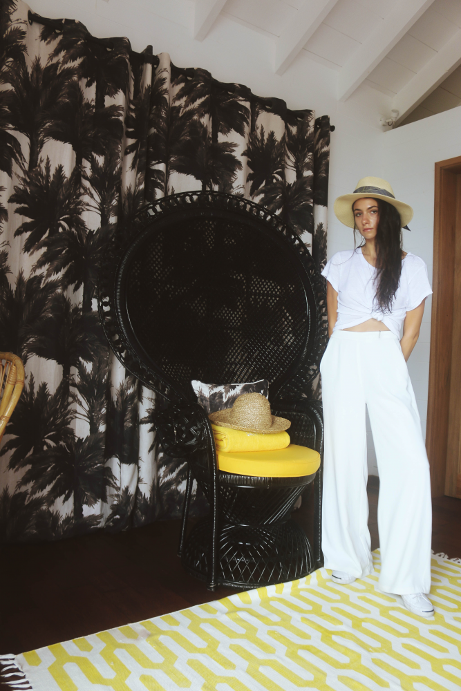 All White Vacation Look