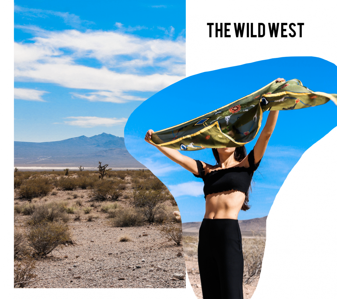 Wild West Silk Scarves - A.M. Club