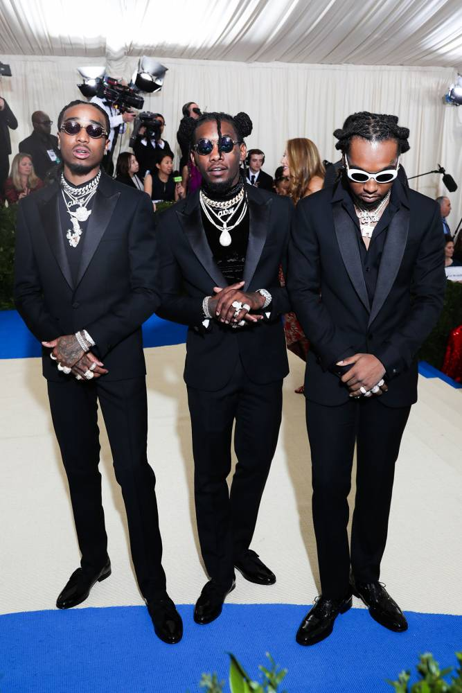Migos Style Turtlenecks With Versace Suits