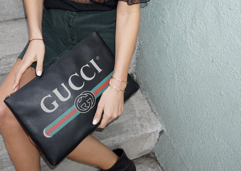 Gucci Logo Printed Pouch