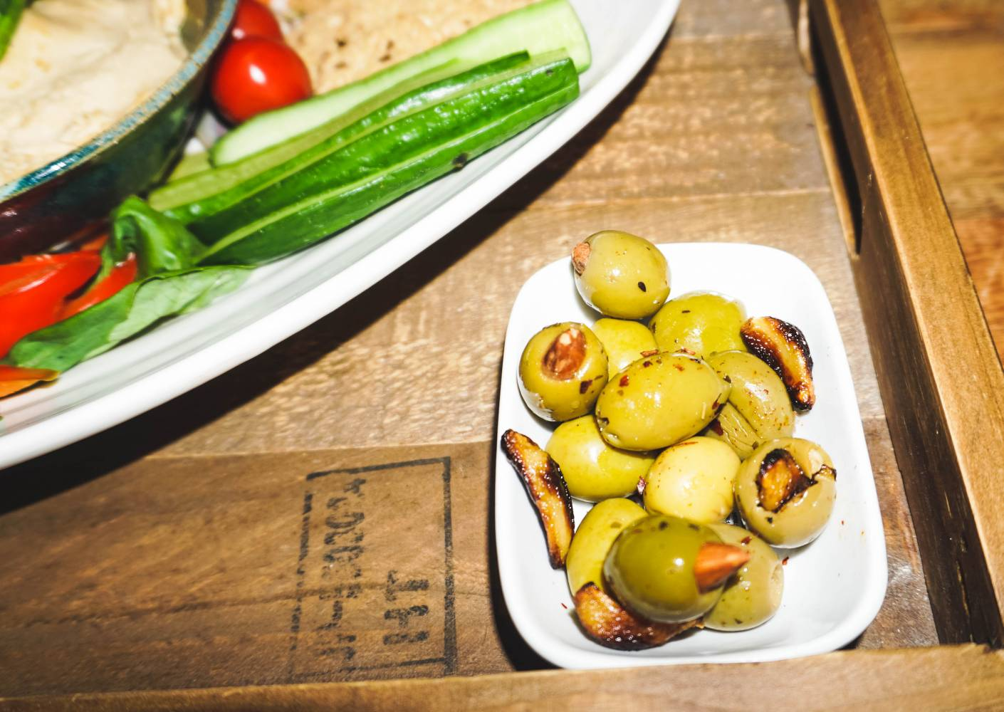 The Ultimate Vegan Party Platter Featuring Spanish Olives