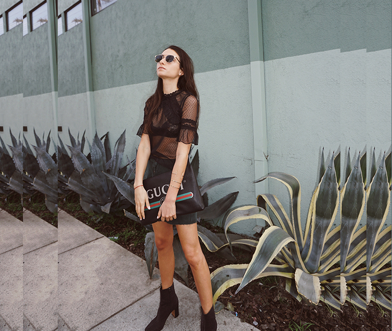 Black Mesh Top Outfit & How To Style