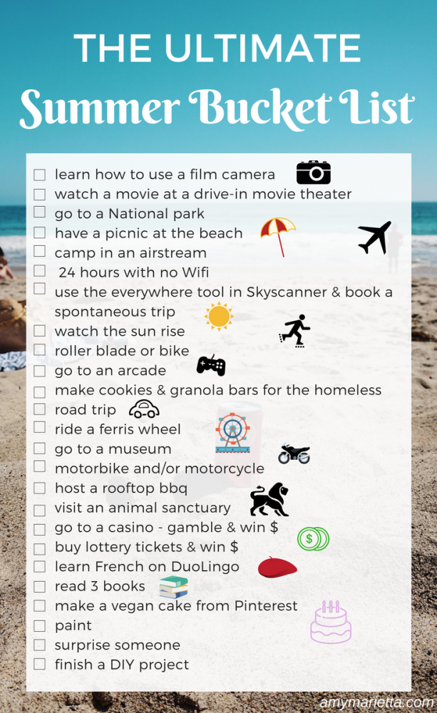 The ultimate unique summer bucket list ideas