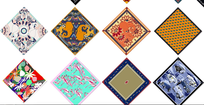 a.m. club silk scarves