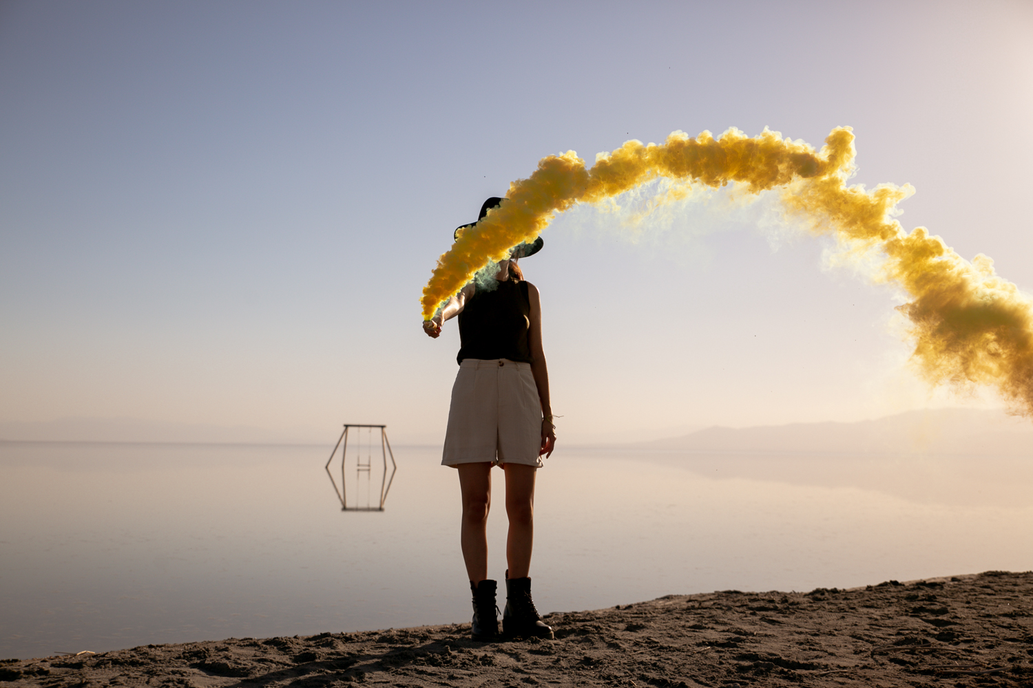 Smokebomb Photoshoot in the desert #smokebomb